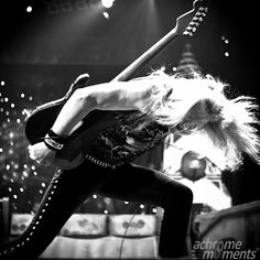 Just Janick Gers playing his guitar