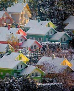 Snow Sunset, Bergen, Norway