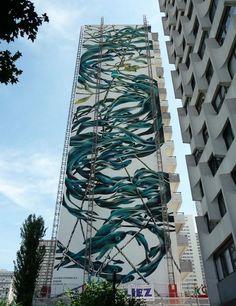 Deux fresques géantes de Street Art   Lumières de la Ville