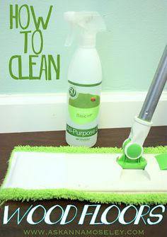 A simple way to clean wood floors. #cleaning