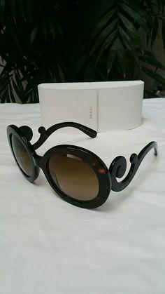 8aa757a6fc5 Prada spr27n minimal baroque sunglasses Womens 8 10 round  160  prada   sunglasses  style  luxury  ebay Sold