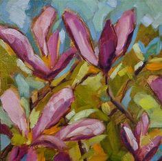 "Daily Paintworks - ""Magnolia moment"" - Original Fine Art for Sale - © Jean Delaney"