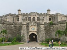 Entrance of the Castillo de la Fuerza, Historical places. Havana