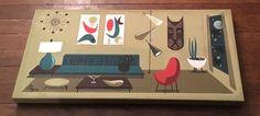 EL GATO GOMEZ PAINTING MID CENTURY MODERN EAMES ERA TIKI BAR MASK CAT 1950S    eBay