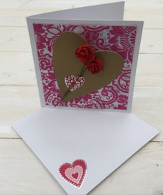 Easy and quick to make Handmade Valentine card, a lovely craft project to do with your kids.