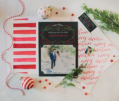 Holiday cards with Shutterfly -- love the envelope liner <3
