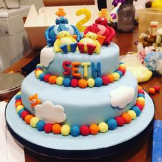 Twirly woos cake I made for my son's 2nd birthday