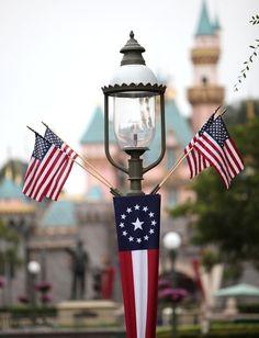 4th of July decorations (at Disneyland)