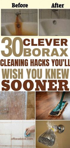 Borax has some amazing cleaning hacks and is a must-have in every home. Borax is quite useful in household cleaning. Check out these clever borax cleaning hacks that you must know to make cleaning your home easy. A must have pin for cleaning tips boards. Borax Cleaning, Household Cleaning Tips, Deep Cleaning Tips, Toilet Cleaning, House Cleaning Tips, Natural Cleaning Products, Spring Cleaning, Bathroom Cleaning Hacks, Household Cleaners