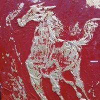 Golden horse Golden Horse, Speed Art, Leaf Art, Moose Art, Leaves, Horses, Metal, Animals, Animales