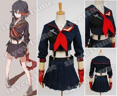 KILL la KILL Ryuko Matoi Dress suit Cosplay Costume from KILL la KILL