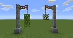 minecraft building ideas A few vines can make the difference between a simple leaf block and a nice hanging plant : DetailCraft Minecraft Farmen, Casa Medieval Minecraft, Minecraft Kunst, Easy Minecraft Houses, Amazing Minecraft, Minecraft Construction, Minecraft Survival, Minecraft Tutorial, Minecraft Blueprints