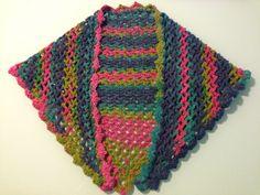 Capa de lana realizada en #crochet