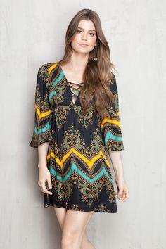 vestido curto estampado jane | Dress to