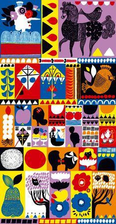 Illustrations for Helsinki's new Marimekko shop by Aino-Maija Metsola.