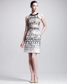 Reptile-Print Dress by Giambattista Valli at Bergdorf Goodman.