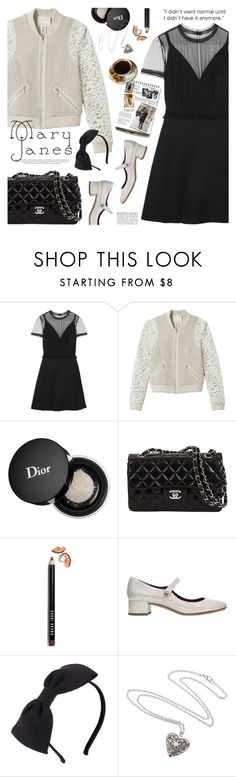"""""""sweet mary janes"""" by jesuisunlapin ❤ liked on Polyvore featuring Valentino, Rebecca Taylor, Christian Dior, Bobbi Brown Cosmetics, Marc Jacobs, Garance Doré, Kate Spade and vintage"""