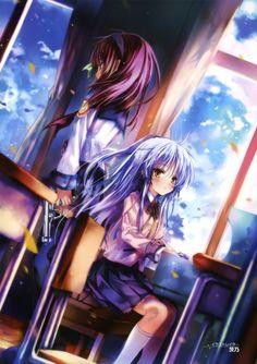 Yuri and Angel - Angel Beats! Manga Anime, Anime Art, Anime Soul, Otaku, Anohana, Fanart, Clannad, Ayato, Anime Angel