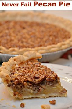 Never Fail Pecan Pie This recipe is a classic Southern Pecan Pie. It is made with simple ingredients including sugar, corn syrup, butter, eggs, and pecans. Pecan Recipes, Pie Recipes, Sweet Recipes, Recipies, Southern Pecan Pie Recipe, Deep Dish Pecan Pie Recipe, Brown Sugar Pecan Pie Recipe, Old Fashioned Pecan Pie Recipe, Pecan Pie Recipe Without Corn Syrup