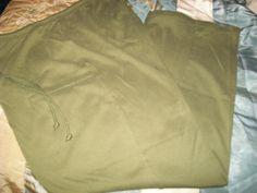 XL Sag Harbor olive green cotton-polyester elastic waist Pants W34-44 L29