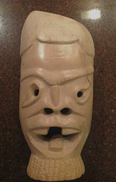 """A Genuine """"Interport"""" Hand carved soap stone mask made in Kenya"""