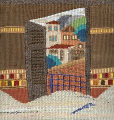 Mediterranean View Tapestry, Quilts, Blanket, Painting, Art, Hanging Tapestry, Art Background, Tapestries, Quilt Sets