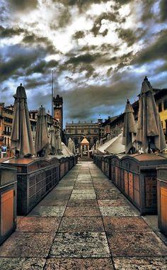 Verona , province of Verona (Veneto, region northern Italy) - Piazza delle Erbe.
