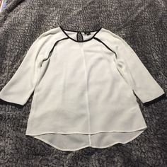 White tunic top White, lightweight tunic top with black trim. Mossimo Supply Co. Tops Tunics