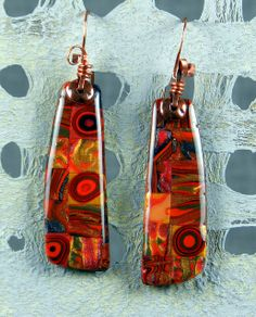 Autumn Mosaic Earrings - Polymer Clay by Stories They Tell, via Flickr