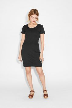 Monki Image 2 of Page dress in Black