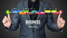 Businessman creative professional company timeline prezi template