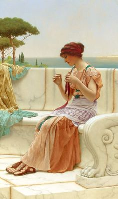 John William Godward (1861-1922).