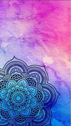 Simple-Mandala-Art-Pattern-And-DesignsYou can find Mandala design and more on our website.Simple-Mandala-Art-Pattern-And-Designs Mandala Art Lesson, Mandala Artwork, Mandala Painting, Mandala Drawing, Mandala Doodle, Iphone Wallpaper Mandala, Wallpaper Sky, Screen Wallpaper, Colorful Wallpaper