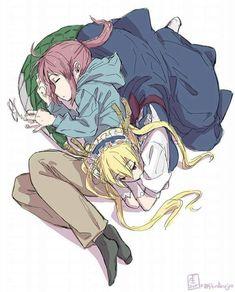 Kobayashi-san Chi no Maid Dragon. Anime Girlxgirl, Yuri Anime, Anime Demon, Kawaii Anime, Anime Art, Fafnir Dragon, Kobayashi San Chi No Maid Dragon, Otaku, Miss Kobayashi's Dragon Maid