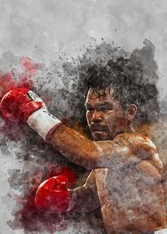 Manny Pacquiao, Boxers, Poster Prints, Studio, Painting, Beautiful, Art, Art Background, Painting Art
