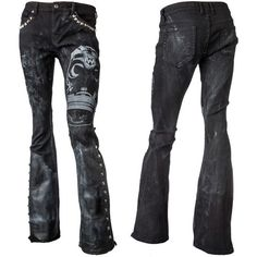Custom Leather and Studs Jeans GM WSCP-110 MTO