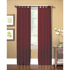 Country Living- -Americana Red Sailcloth Window Panels