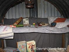 inside a shelter Anderson Shelter, Underground Shelter, British Home, Air Raid, Uk Homes, Wwii, Britain, Reading Corners, England
