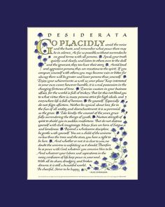 Desiderata poem, Desiderata print, go placidly, Max Ehrmann, inspirational print My Children Quotes, Quotes For Kids, Desiderata Poem, Max Ehrmann, Child Of The Universe, Calligraphy Print, Be Gentle With Yourself, Blue Roses, Print Design
