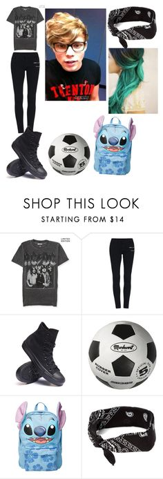 """""""soccer with ashton"""" by lukehemmogirl1996 ❤ liked on Polyvore featuring Aéropostale, Converse, Disney, claire's, women's clothing, women, female, woman, misses and juniors"""