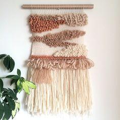 Woven wall hanging // handmade tapestry by JessHotsonTextiles Weaving Art, Hand Weaving, Woven Wall Hanging, Textiles, Weaving Techniques, Textile Art, Wall Tapestry, Loom, Diy Home Decor