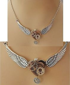 Silver Steampunk Heart, Wings & Gears Necklace Jewelry Handmade NEW Fashion | Jewelry & Watches, Fashion Jewelry, Necklaces & Pendants | eBay!