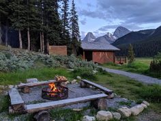 Want the beauty of Banff National Park without the crowds? You need to go to Alberta's Kananaskis Valley and go hiking from spectacular Mount Engadine Lodge Banff National Park, National Parks, Cool Places To Visit, Places To Go, Bonfire Pits, Go Hiking, Backyard, Patio, Canadian Rockies