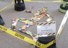 "A ""victim of censorship"" display."