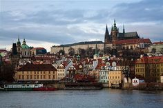 https://flic.kr/p/7VhpSL | Prague Skyline | View of Prague Castle and old town from across the river