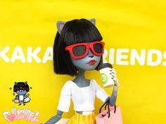 Kakao Friends Neo Custom Monster High OOAK Doll 카카오 프렌즈 네오 인형 리페인팅 by Dollightful