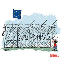 L'Europe et les migrants au pied du mur - Dessin du jour - Urtikan.net