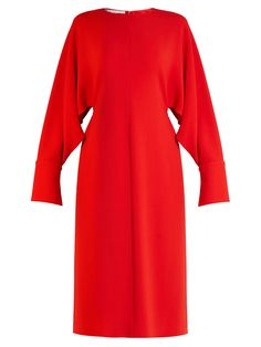 Slashed-sleeve stretch-cady dress  | Stella McCartney | MATCHESFASHION.COM