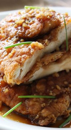 Crispy Honey Garlic Chicken