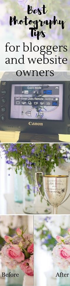 Best Photography Tips For Bloggers and Website Owners  Improve your photography with the right camera equipment I camera settings I dslr settings for the web and more.